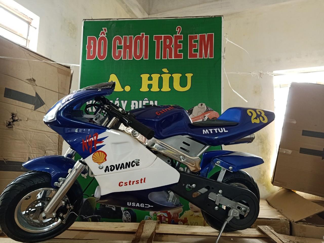 Xe moto mini 50cc – xe ruồi BẢN CÓ ĐÈN PHUỘC
