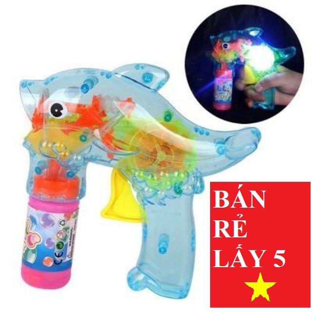 Súng bắn bong bóng cho bé  kèm 2 lọ xà phòng. Giúp bé an toàn, vui chơi với bạn bè.