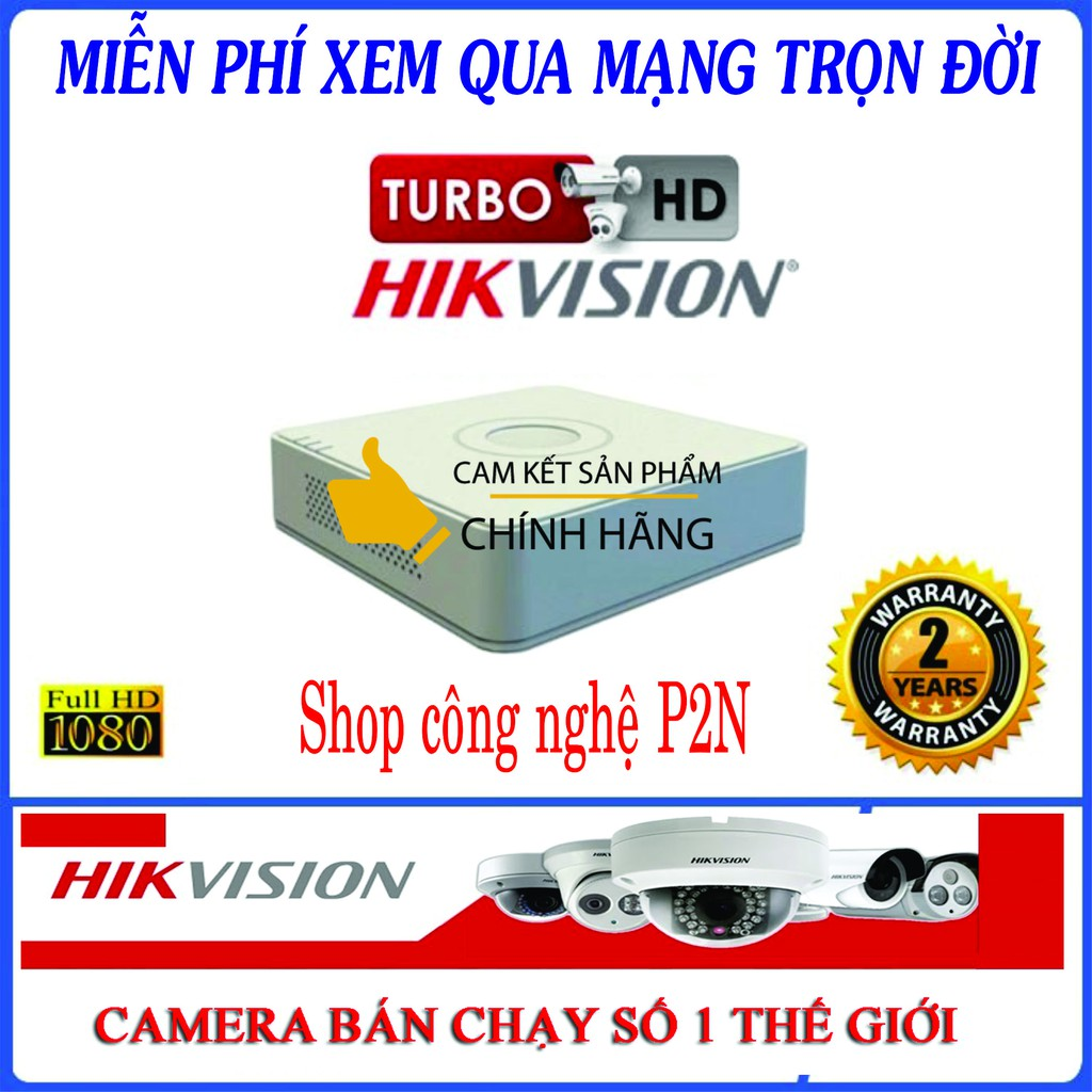 [Chính Hãng] Đầu ghi hình Hikvision 4 kênh DS-7104HGHI-F1 Hỗ trợ camera Full HD - Bảo hành 24 tháng