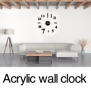 1 đồng hồ dán tường hiệu ứng gương 3D