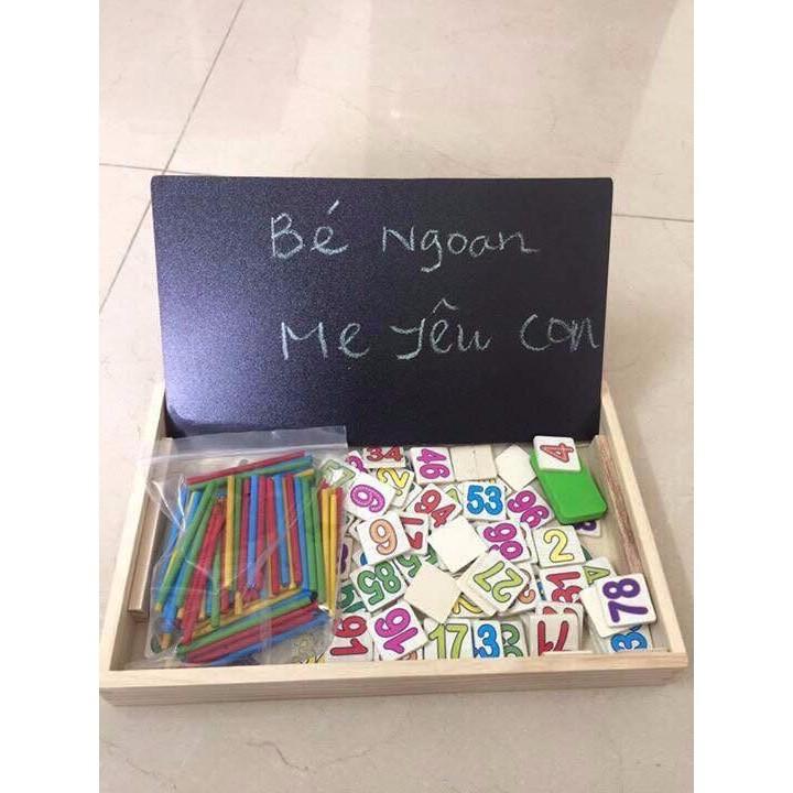 [Rẻ Vô Địch] - Bảng gỗ 2 mặt dạy bé học toán