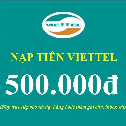 Mã thẻ cào 500k Viettel