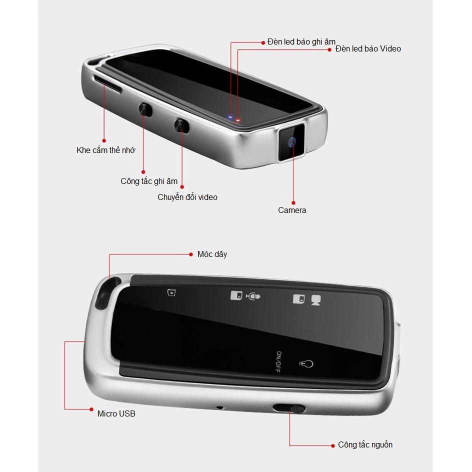 Camera Mini Ghi Hình Đa Năng Hỗ Trợ Ghi Âm DVR Recor Kiêm Móc Khóa XANES MC01 Cao Cấp
