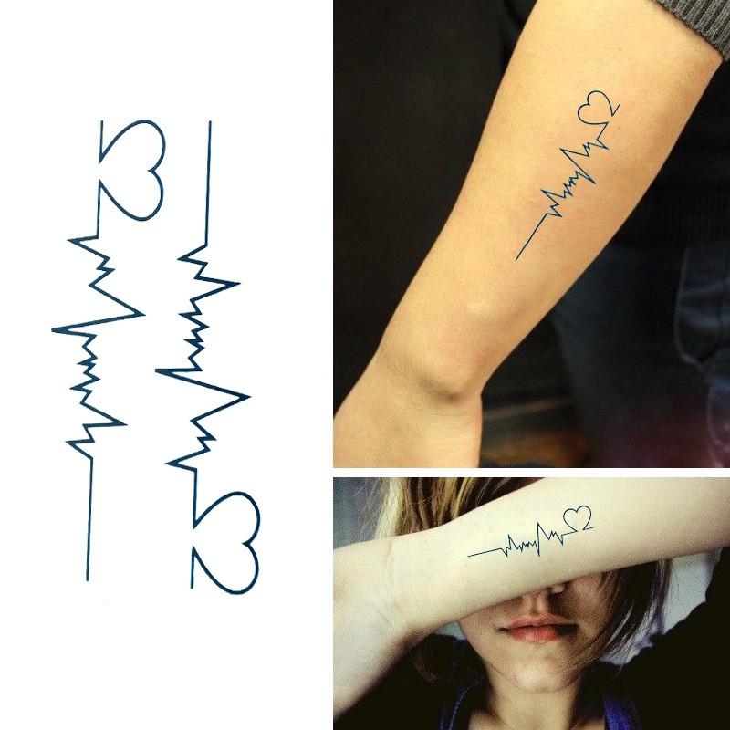 Hình Xăm Dán Tattoo Nhịp Tim - 10083782 , 315695046 , 322_315695046 , 10000 , Hinh-Xam-Dan-Tattoo-Nhip-Tim-322_315695046 , shopee.vn , Hình Xăm Dán Tattoo Nhịp Tim