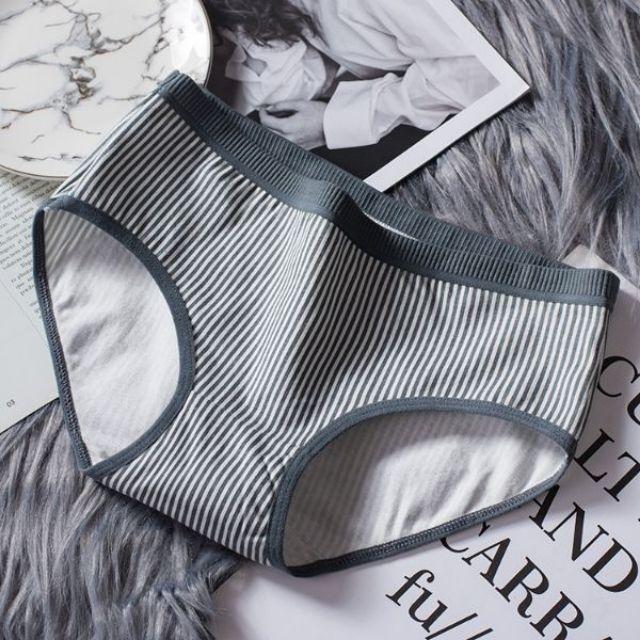 [MUA 2 SET TẶNG 1 QUẦN]Combo 5 quần lót nữ cotton kẻ 3D co dãn 4 chiều xuất Nhật Q88