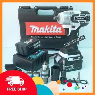 [Chính Hãng] Máy siết bulong Makita 72v, 2 pin, đầu 2 trong 1, 100% dây đồng, không chổi than, tặng đầu chuyển vít -Xịn