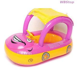 new arrive ABC-1562 Baby Swim Ring with Sun Shade Car Boat Seat✸honestop✸