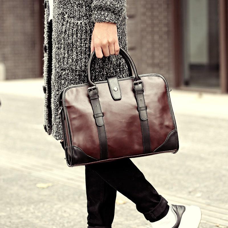 Túi xách tay bằng da thiết kế giản dị thời trang dành cho nam