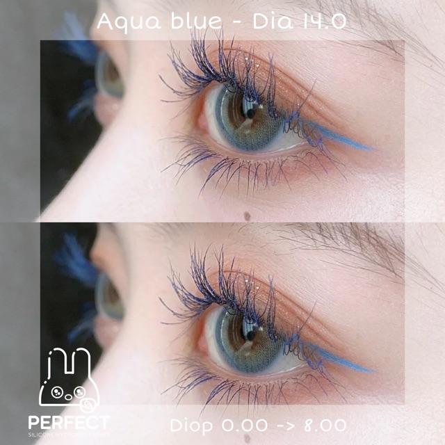 [Mã FAHIT101 hoàn 12K xu đơn 50K] Link 1 (Giá 1 Chiếc) Lens Aqua Blue (0.00 -> 8.00) 14.0 -...