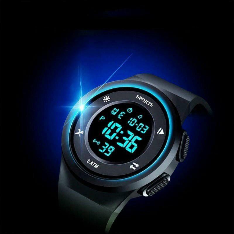 Đồng hồ điện tử thời trang nam nữ SPORTS m42 dây silicon chống nước tốt fser