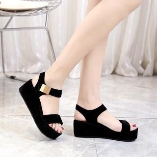 Giày sandal đế xuồng cao gót đẹp y hình