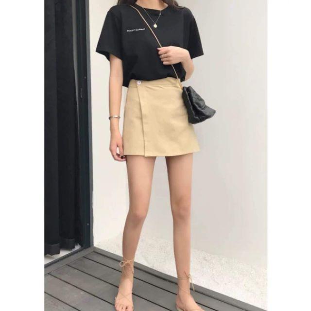 Chân váy chữ A màu be   Shopee Việt Nam