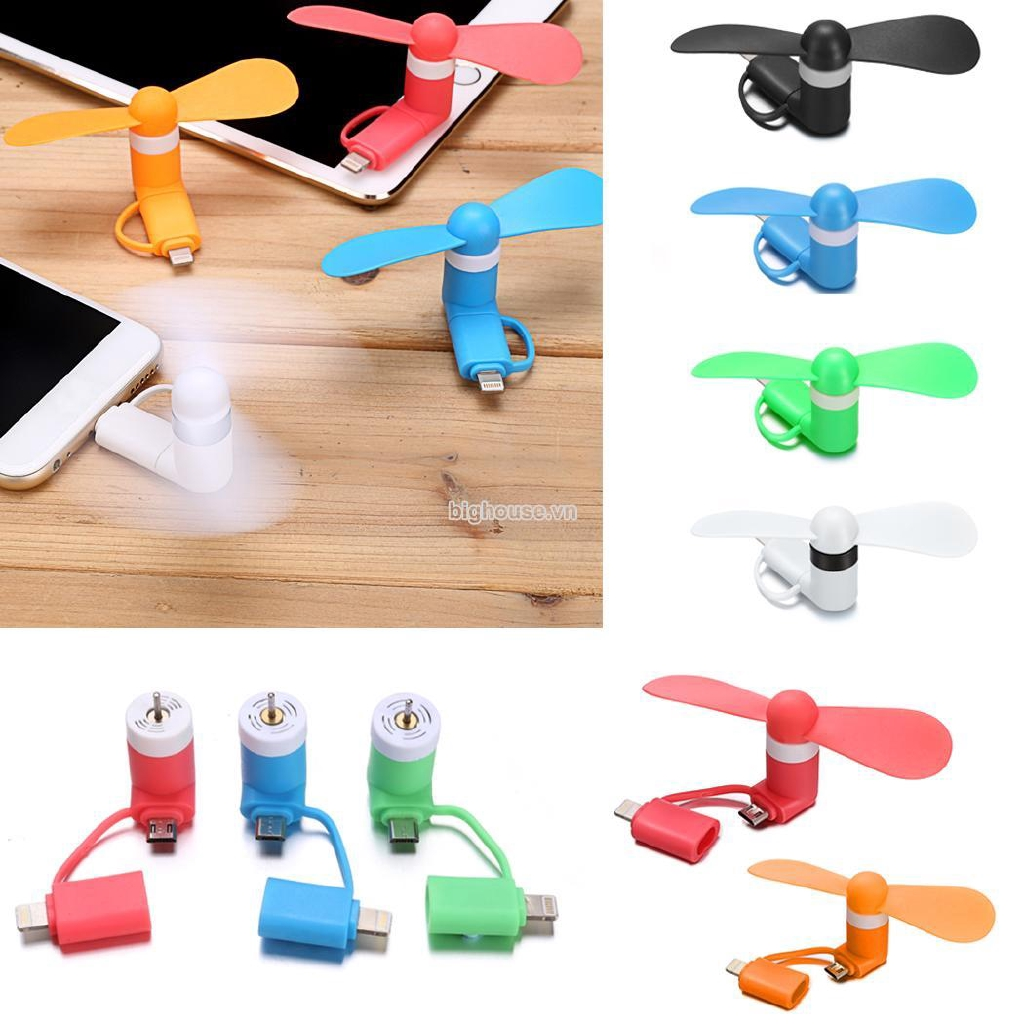 BVHF Portable Cell Phone Mini Electric Fan Cooling Cooler For iPhone/ Android Phone