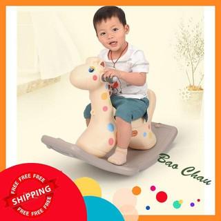 [SIÊU GIẢM GIÁ] Ngựa bập bênh cho bé có đèn có nhạc vui nhộn