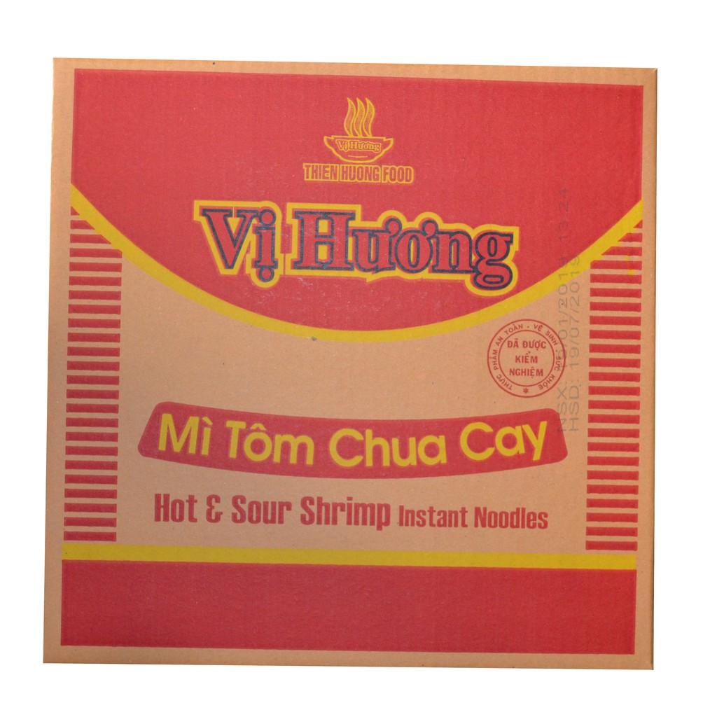 Thùng Mỳ Vị Hương Tôm Chua Cay 30 gói x 65gr