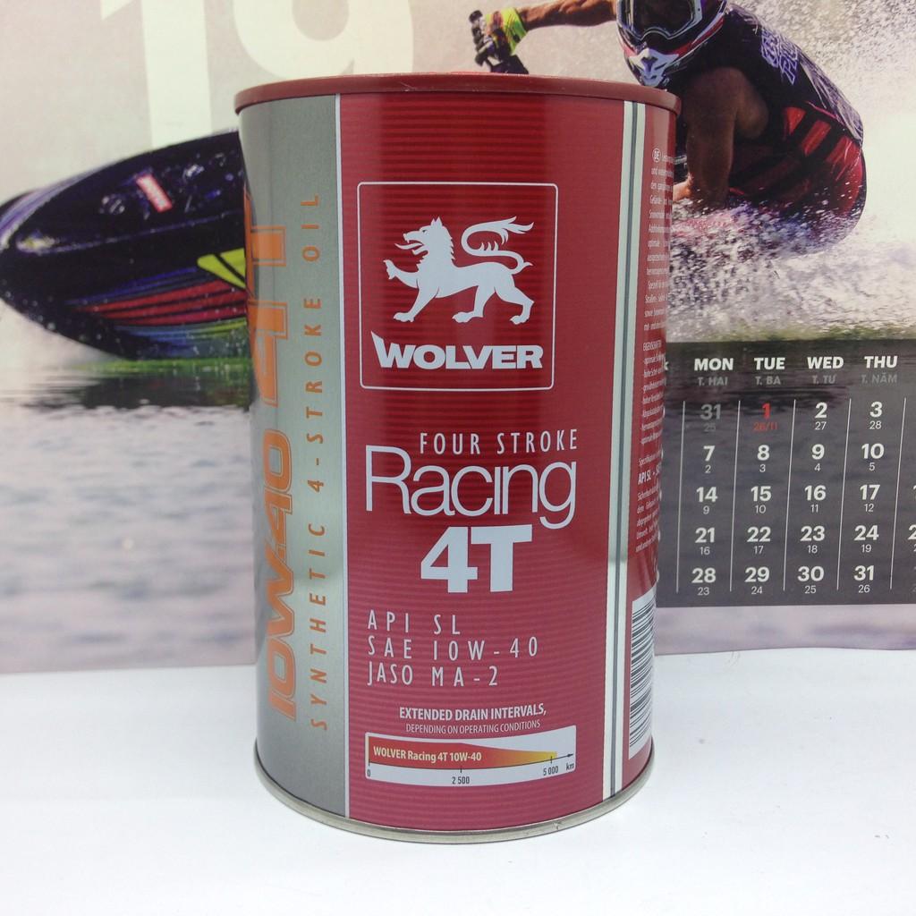 Nhớt Wolver Racing 4T tổng hợp 10W40 mẫu mới 2019