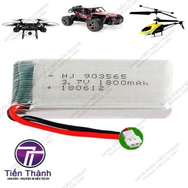 PIN 3.7V 1800mAh Flycam máy bay đồ chơi điều khiển Từ Xa