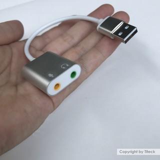 [Mã ELFLASH5 giảm 20K đơn 50K] Cáp USB Sound Card 7.1 vỏ nhôm cao cấp dài 16cm ( USB to Mic và Loa )