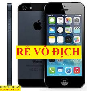 điện thoại Iphone 5 32G Quốc tế đẹp 99% như mới, Full chức năng thumbnail