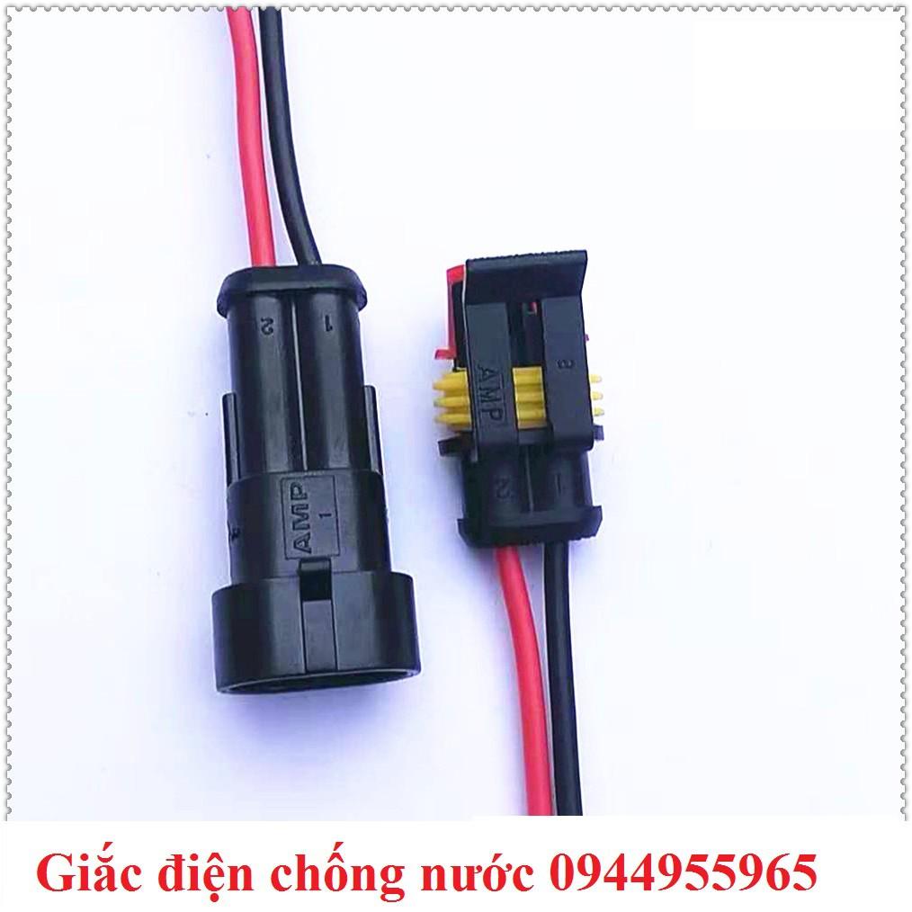 Giắc điện socket connector kiểu AMP chống nước ô tô tàu thuyền thiết bị điện y tế lọc nước đã bấm dây
