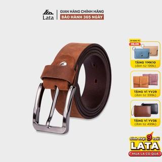 Thắt lưng nam thời trang da bò thật LATA TL246