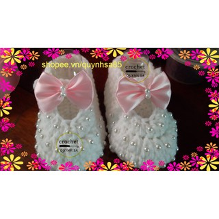 Giày len cho bé M237 – baby shoes /sandals crochet