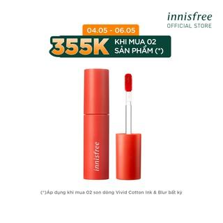 [CHƯƠNG TRÌNH ƯU ĐÃI 4.5 -6.5] Son môi lâu trôi dạng kem innisfree vivid cotton ink 4g