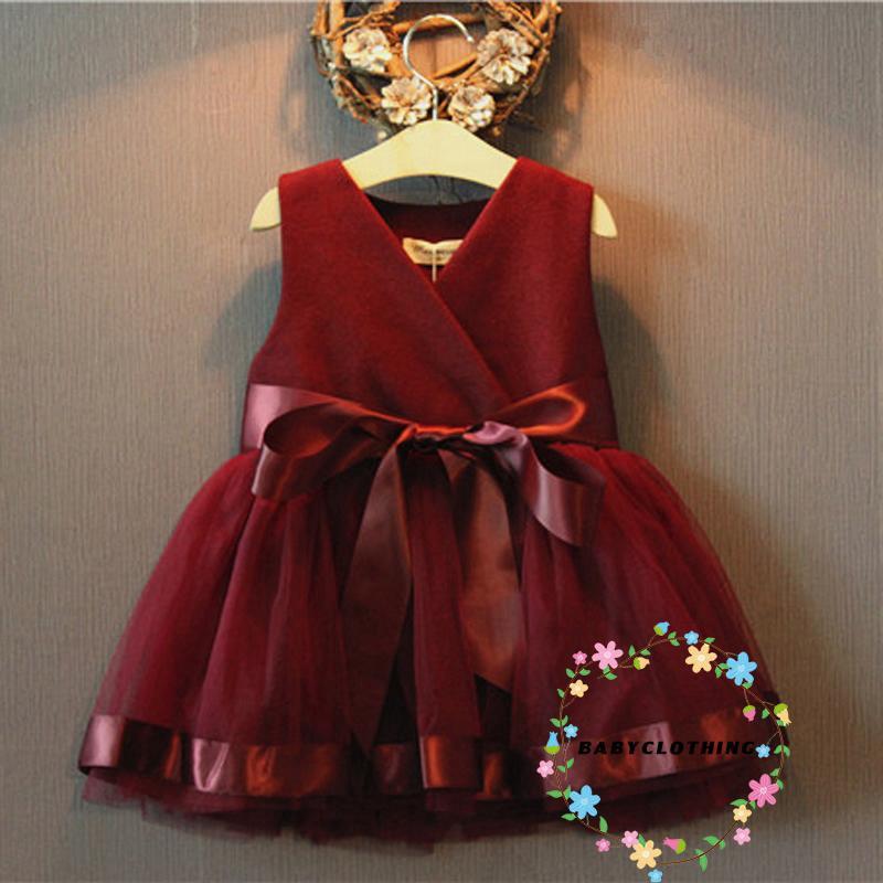 Đầm công chúa không tay xinh xắn cho bé gái từ 2-7 tuổi