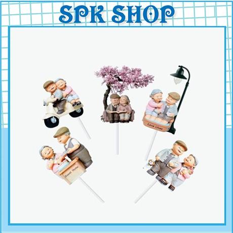 [FREESHIP❤️] Set cắm ông bà - Trang trí bánh sinh nhât bánh kem - SPK Shop