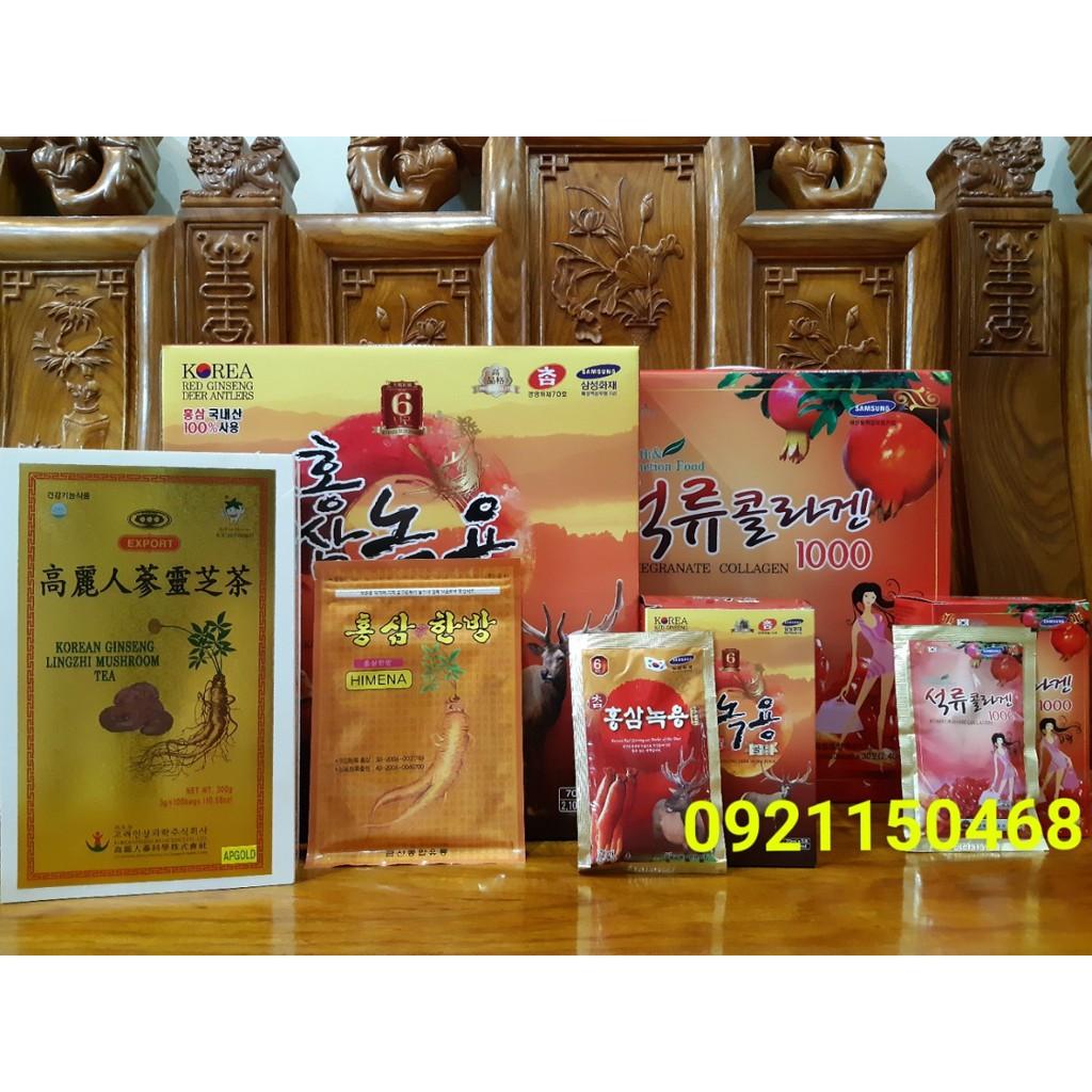 COMBO Nước hồng sâm nhung hươu nước lựu collagen trà sâm linh chi cao dán sâm vàng HIMENA - 2916696 , 1252791625 , 322_1252791625 , 888000 , COMBO-Nuoc-hong-sam-nhung-huou-nuoc-luu-collagen-tra-sam-linh-chi-cao-dan-sam-vang-HIMENA-322_1252791625 , shopee.vn , COMBO Nước hồng sâm nhung hươu nước lựu collagen trà sâm linh chi cao dán sâm vàng