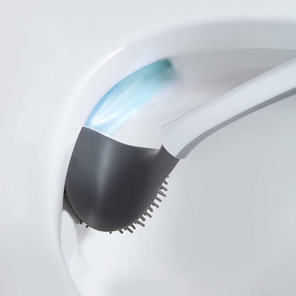 Bộ Bàn Chải Vệ Sinh Toilet Gắn Tường Tiện Dụng Mẫu Mới (Hàng có sẵn)