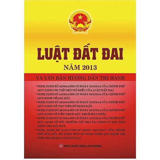 [Sách] Luật Đất Đai Năm 2013 và Văn Bản Hướng Dẫn Thi Hành