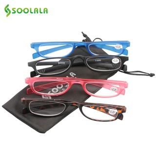 Bộ 4 kính viễn đọc sách SOOLALA gọng hình chữ nhật mỏng siêu nhẹ bỏ túi tiện lợi cho nam và nữ