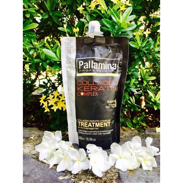 Kem Hấp Ủ Tóc Dưỡng Sinh Tái Tạo Phục Hồi Hương Nước Hoa Colagen - Keratin Pallamina 500ml [ top 1 ]