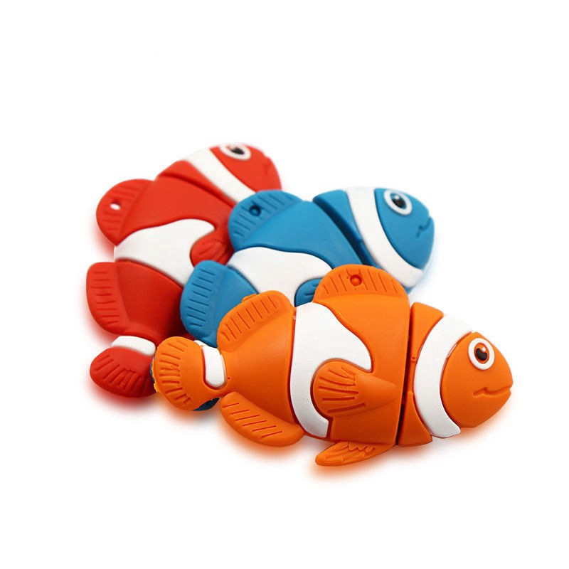 Cartoon Fish Usb Flash Drive 4GB 8GB 16GB 32GB 64GB Creative Pen drive Giá chỉ 170.000₫