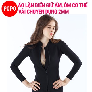 Áo lặn biển cho nữ dài tay dày 2mm POPO giữ ấm cơ thể thumbnail