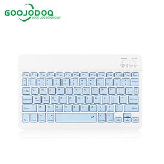 Bộ bàn phím + chuột máy tính không dây bluetooth GOOJODOQ nhiều màu sắc nhỏ gọn cho iPhone/ iPad (có bán lẻ bàn phím)