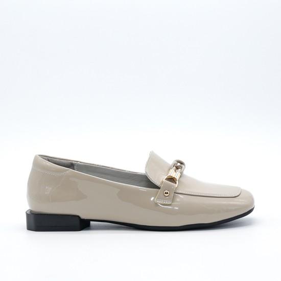 Giày lười nữ Aokang màu Kem 192333047