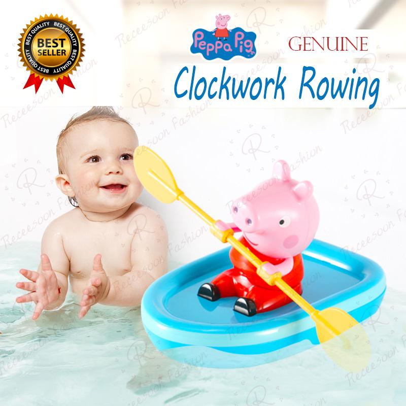 Peppa Pig Bath Toys For Baby Clockwork Boat Ship Rowing Bathroom Shower Toy Kids Gifts