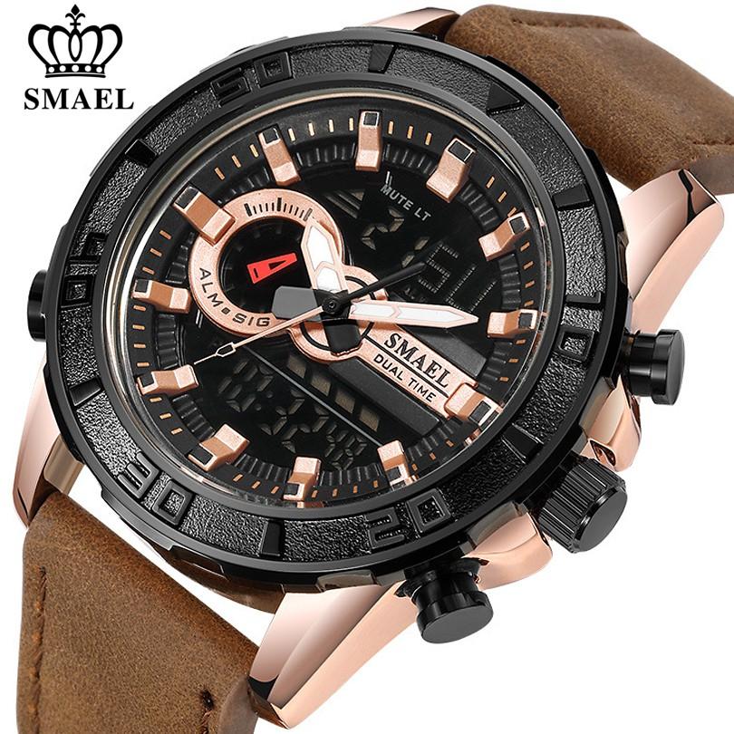 SMAEL Đồng hồ chống nước ngoài trời thể thao Đồng hồ đa chức năng Đồng hồ điện tử Đồng hồ nam