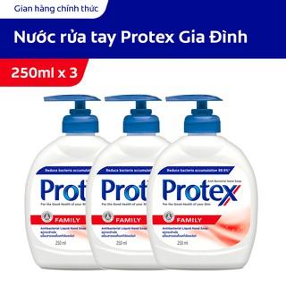 Combo 3 Nước rửa tay diệt khuẩn Protex Family 250ml chai cho gia đình-0