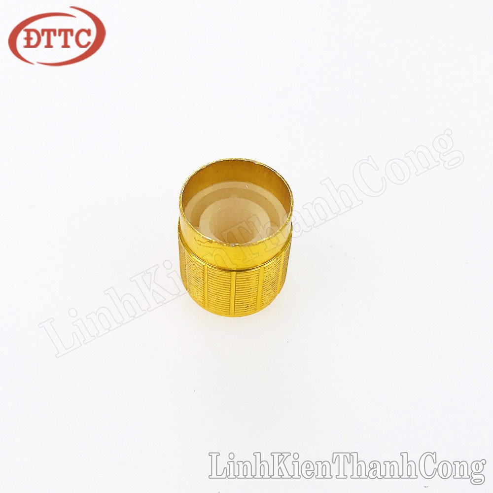 Núm Triết Áp Kim Loại Vàng 15mm