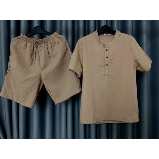 Bộ Đũi Nam Vải Đũi Cao Cấp Bền Đẹp Thời Trang WhiteColour
