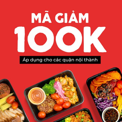 HCM [E-Voucher] Mã giảm giá 100k khi đặt món trên Fitfood