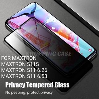 Maxtron S11S S11 6.26 S11 6.53 TEMPERED GLASS ANTI SPY FULL Prime thumbnail