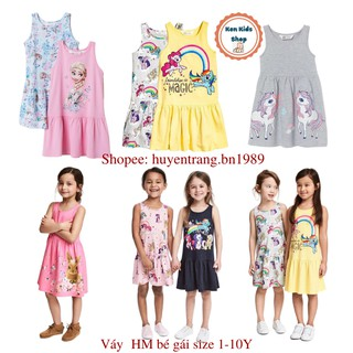 Váy HM mickey elsa pony cho bé gái nhiều mẫu (Size 2-10y)