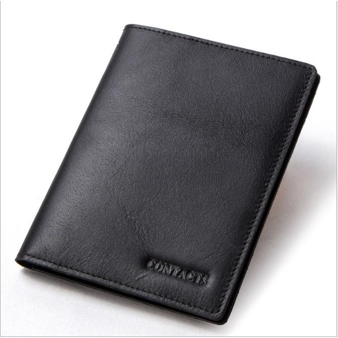 Bóp Ví Da Bò Thật 100% Cao Cấp Passport Hộ Chiếu AM1275 Contacts - Hàng Nhập Khẩu - Nam Nữ I