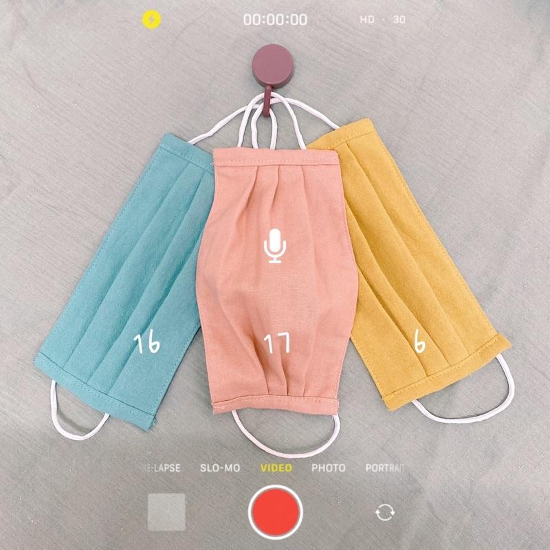 Khẩu trang y tế bằng vải combo 3 cái bất kỳ giá khuyến mãi ( khách chọn màu nhắn shop...