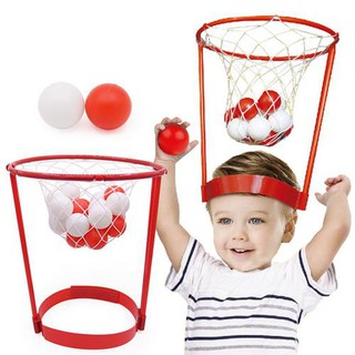 Children's Outdoor Toy Headband Hoop Ball Toy Security Puzzle Catching Basketball Kid Game
