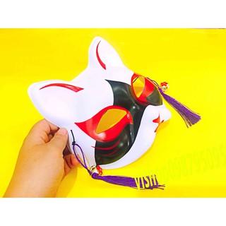 Mặt nạ hóa trang Nhật Bản, mặt nạ cáo nửa mặt bằng nhựa mã YOG93 Hxinh xắn